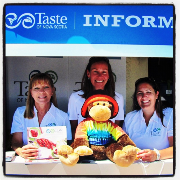 Taste of Nova Scotia - The Information Ladies at the Food Fair during Tall Ships NS in Halifax, Nova Scotia