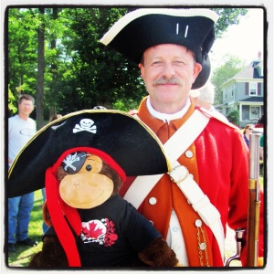One of King's Orange Rangers in Mahone Bay's Pirate Day & Regatta